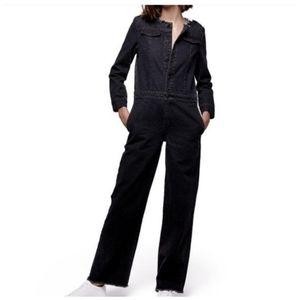 Daya By Zendaya oversized black denim jumpsuit